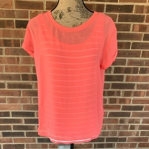 NWT NYDJ short sleeve striped blouse